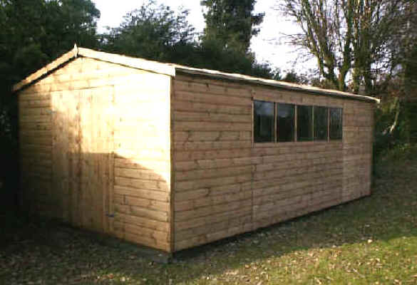 20 x 12 apex garden shed by Sheds Unlimited