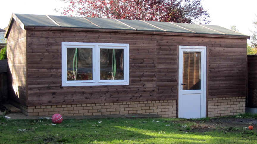 bespoke 22 x 9 home office garden shed by Sheds Unlimited