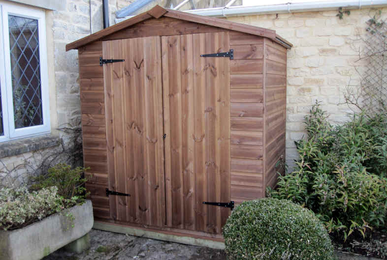 bespoke 6 x 4 garden store shed with double doors