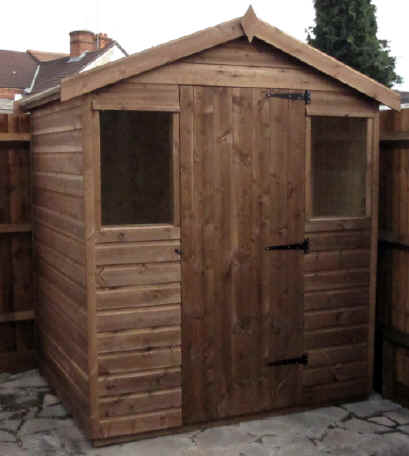 6 x 4 chalet garden shed without extended sides