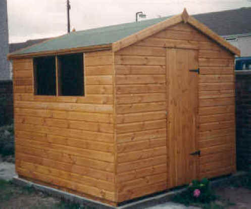 8 x 8 apex garden shed by sheds unlimited for Garden shed 8x8
