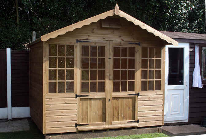 9 x 7 georgian style garden shed by shds unlimited