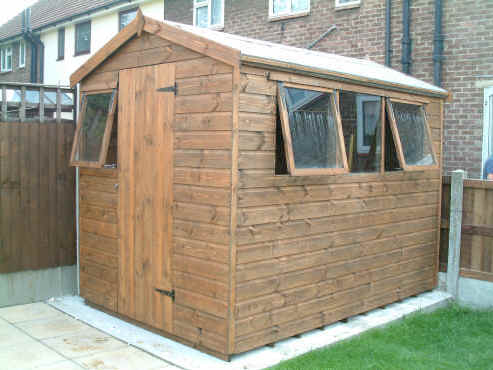 10 x 6 apex garden shed with opening windows