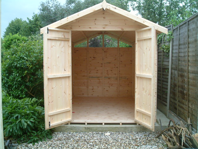 Bespoke 12 x 7 apex double doors by sheds unlimited for Double door shed plans