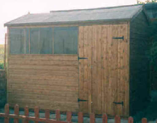 10 x 6 apex garden shed with doors in the long side by Sheds Unlimited