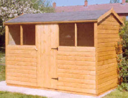 10 x 6 apex garden shed with door in the middle of the 10 by Sheds Unlimited