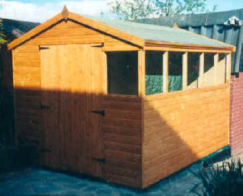 10 x 8 apex garden shed by Sheds Unlimited