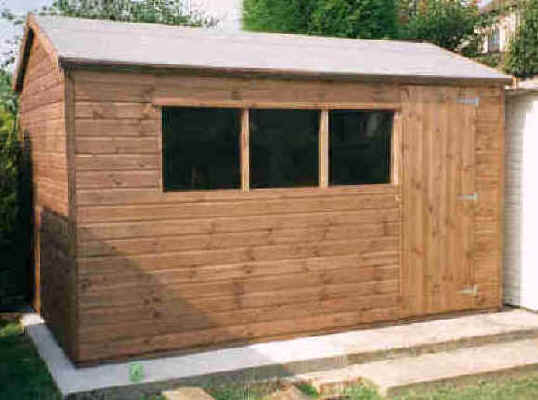 12 x 8 apex garden shed with the door in the 12 side by Sheds Unlimited