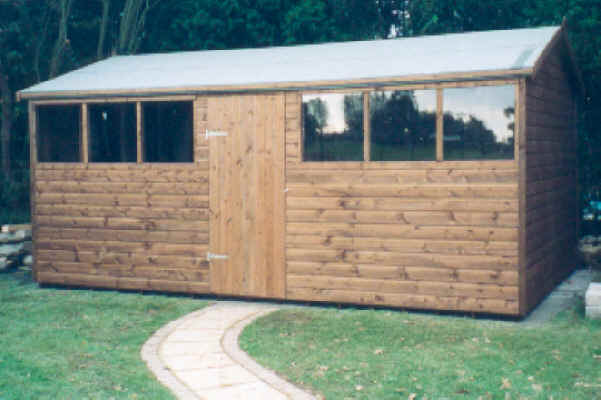 Bespoke 16 x 10 apex garden shed london essex