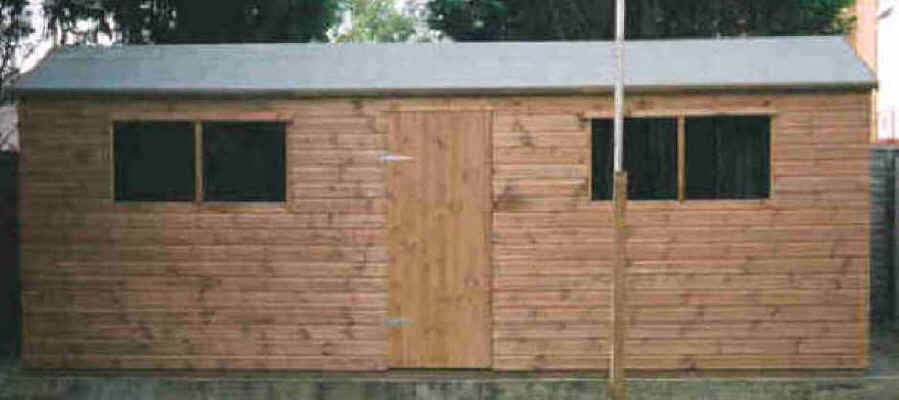 20 x 8 apex garden shed by Sheds Unlimited