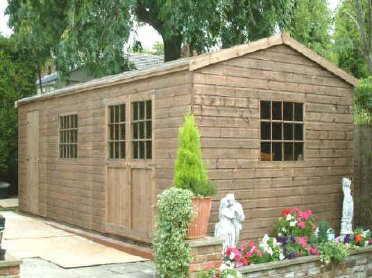 Big garden sheds for sale tough shed foundation for Garden shed large