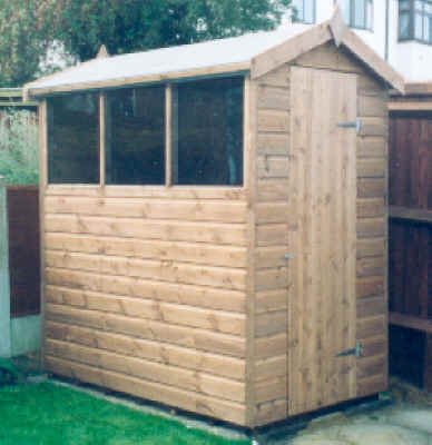 6x4 standard apex shed by Sheds Unlimited