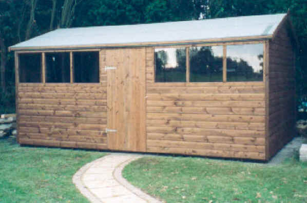 16 x 10 apex garden shed by Sheds Unlimited