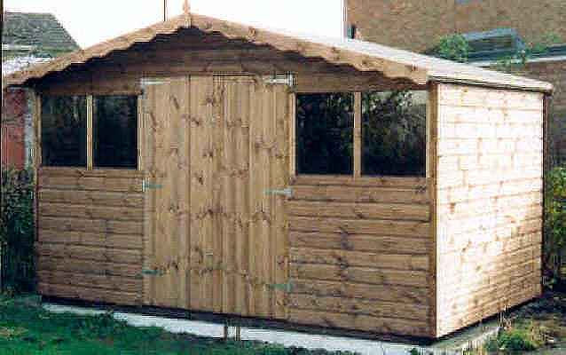 12x8 Chalet Style Shed By Sheds Unlimited