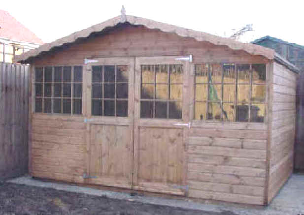 12x8 georgian chalet by the shed shop for Garden shed essex
