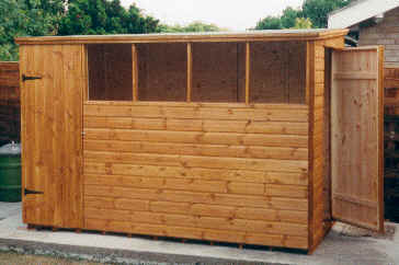 custom built 10 x 6 pent with an additional door in theright hand - Garden Sheds 6 X 10