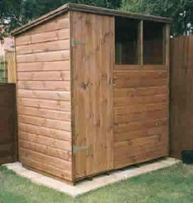 6 x 4 pent garden shed by sheds unlimited for Garden shed essex