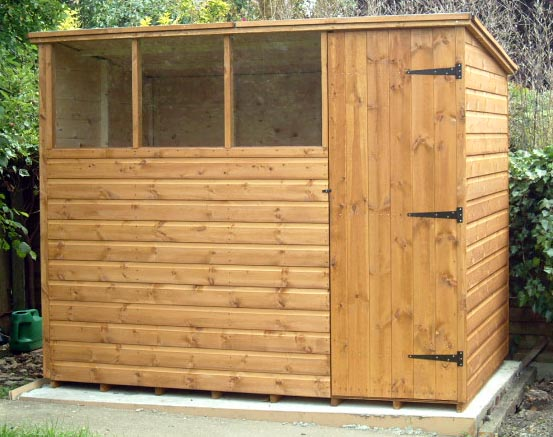 Pent roofed  garden shed 8x6