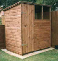 6 X 4 pent roofed standard garden shed