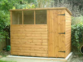 Standard 8x6 pent roofed garden shed