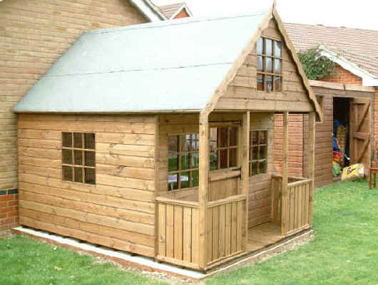 10 x 8 playhouse, two storey by Sheds Unlimited
